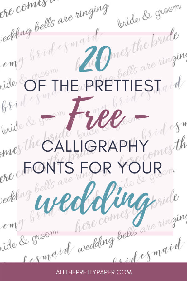 20 best free calligraphy fonts for wedding invitations