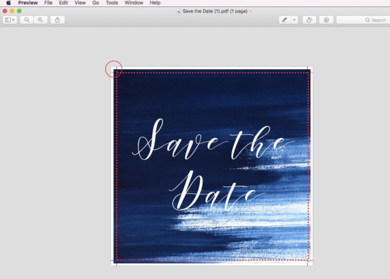 Print your own wedding invitations - crop marks and bleed (1)