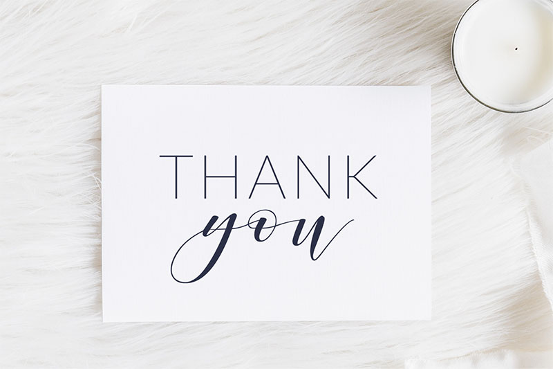 Wedding Thank You Cards Printable | Print Your Own Wedding Invitations