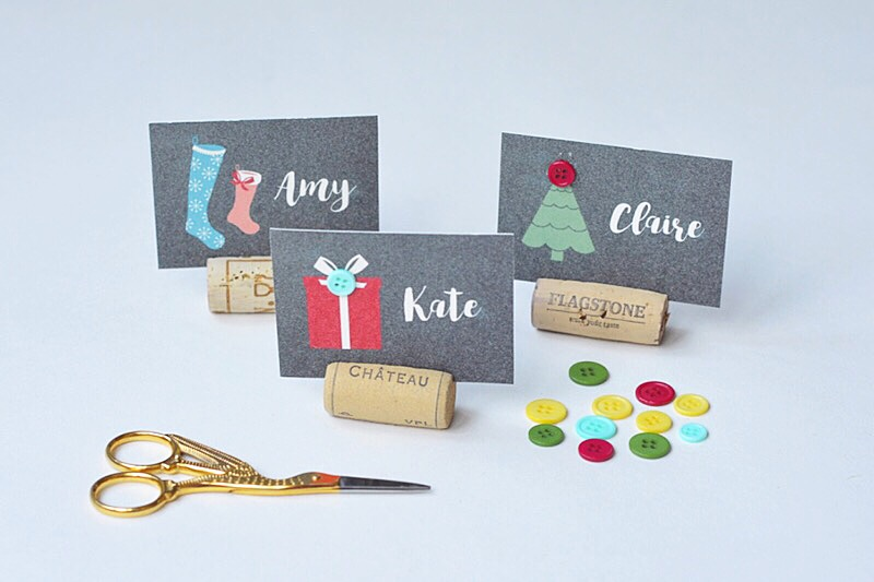 Personalised Place Card Christmas Table Favours