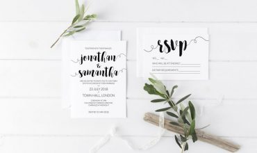 Printable Wedding Invitations & RSVP | Modern Minimalist Wedding Stationery | Brush Calligraphy Wedding Invite | How to make your wedding invitations