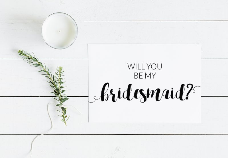 Breathtaking image with printable will you be my bridesmaid