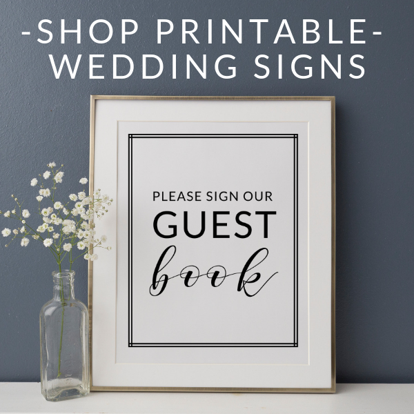 Printable Wedding Signs Shop