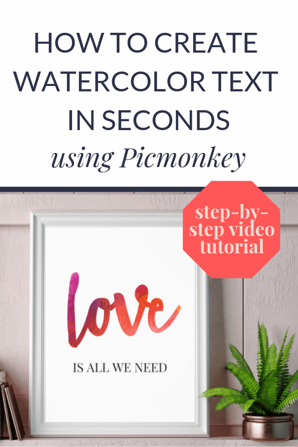 create watercolor texture text wedding stationery