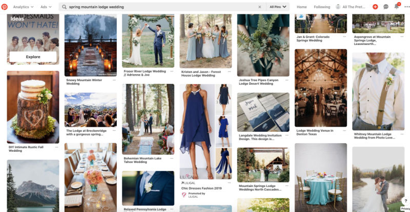 Pinterest wedding theme ideas