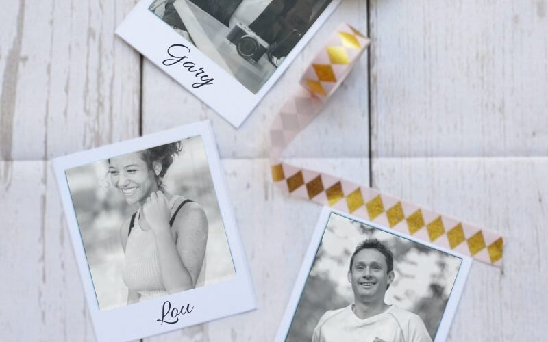 Polaroid unique wedding place card tutorial