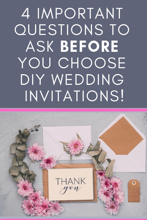 Should you buy or DIY wedding invitations? Here's how to decide | Thank you wedding card