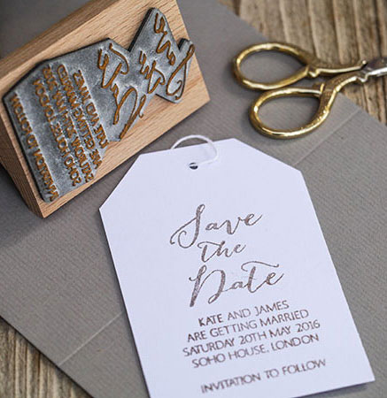 HOW TO MAKE WEDDING INVITATIONS | Stamped Save the Date