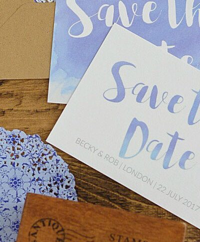 How to Create Watercolor text for Wedding Stationery