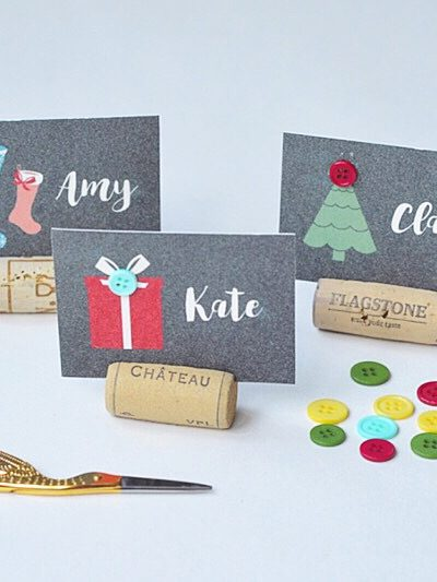 How to Make Super Cute Personalised Christmas Table Favours