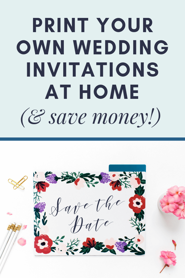 advice on how to print wedding stationery at home