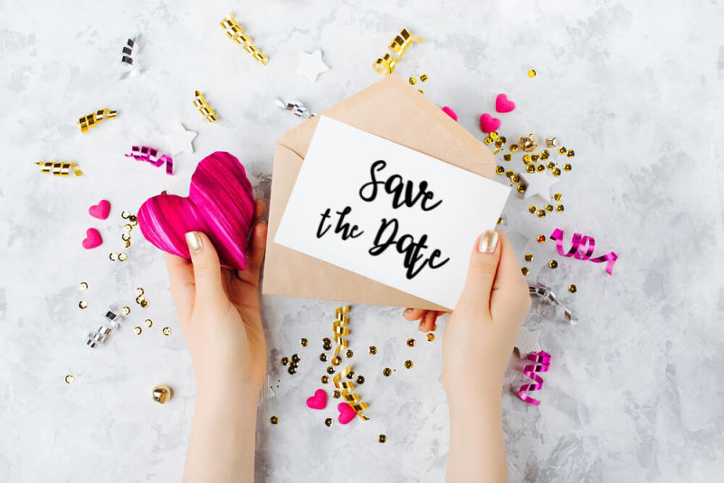 Should you DIY wedding invitations for your big day? Save the Date Card