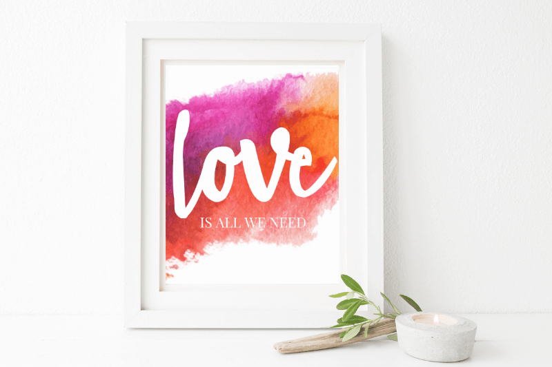 watercolor texture art print | DIY wedding stationery