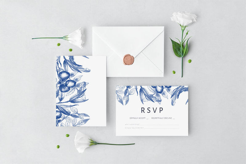 how to make wedding invitations - RSVP