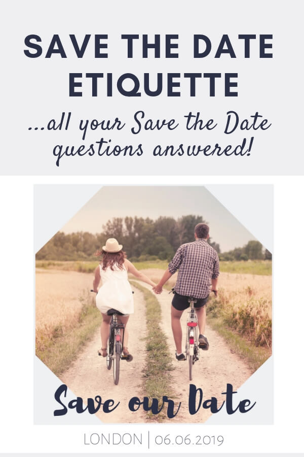 Save the Date etiquette questions