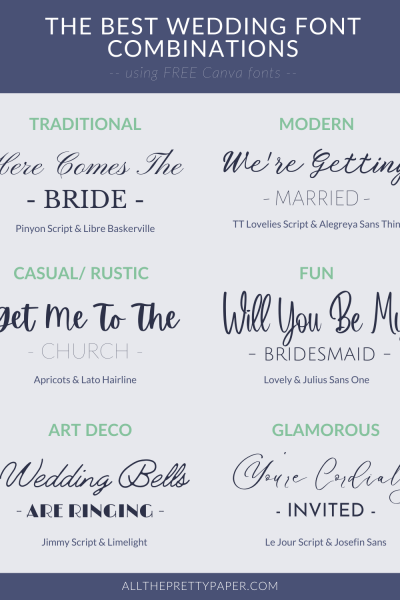 The best wedding font combinations for gorgeous DIY wedding invitations